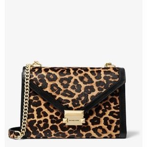 Whitney Large Leopard Calf Hair Convertible Should
